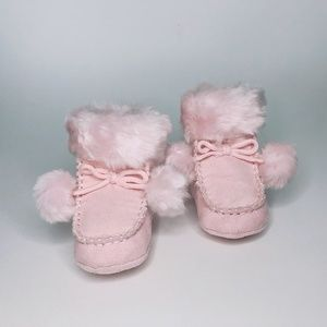 Joe Fresh moccasin style pink boots